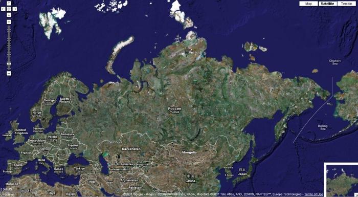 гугл карта россии с городами онлайн